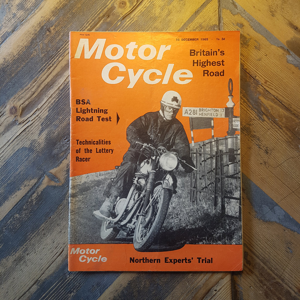 Motorcycle Magazine 16 Dec 1965