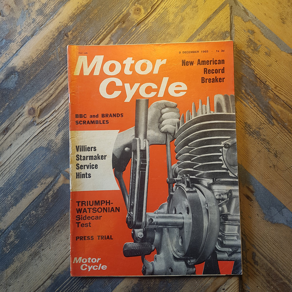 Motorcycle Magazine 9 Dec 1965