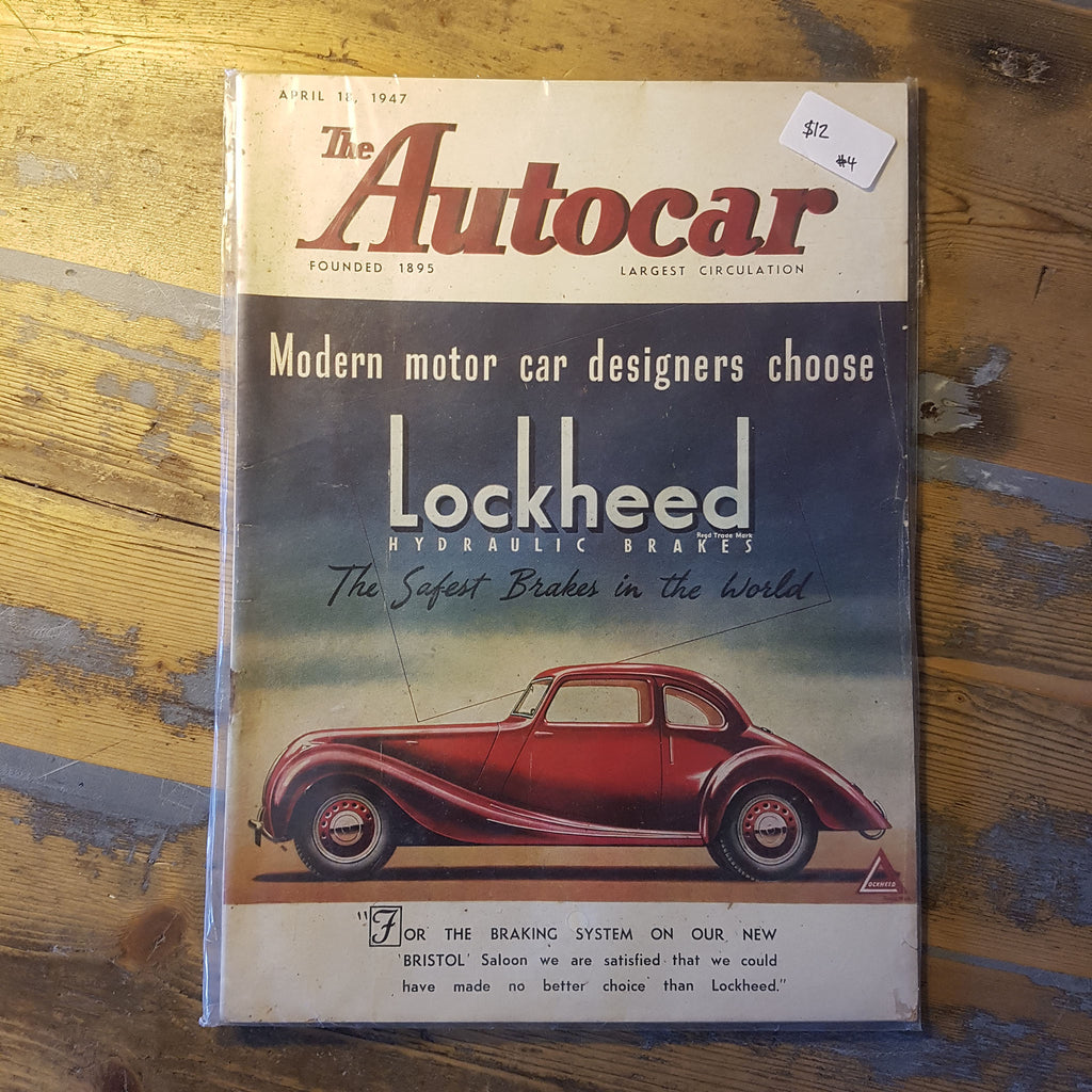 The Autocar Magazine April 18 1947