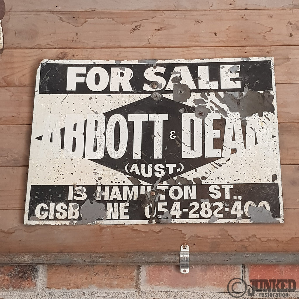 Abbott and Dean for sale sign