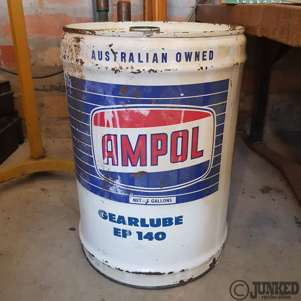 Ampol gear lube drum