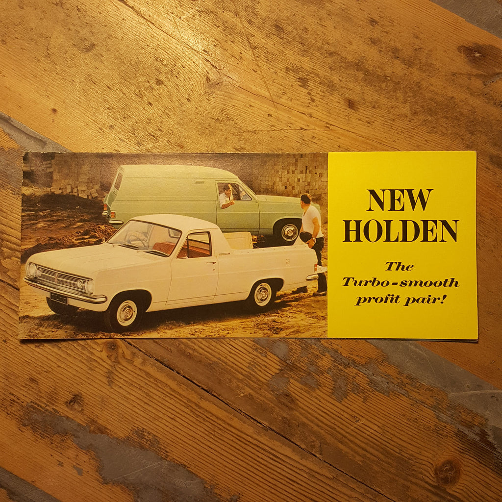 HR Holden Ute and Panel Van Sales Brochure