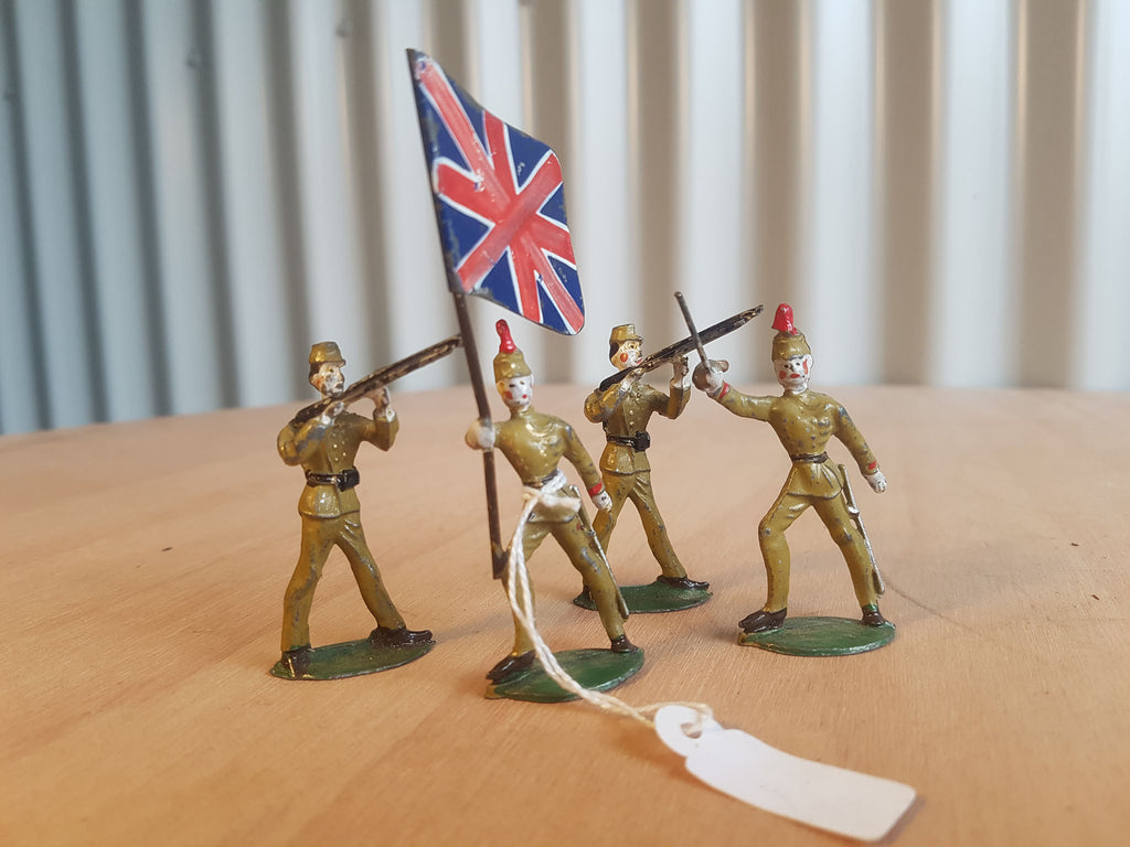 Lead British Soldiers - Set of 4
