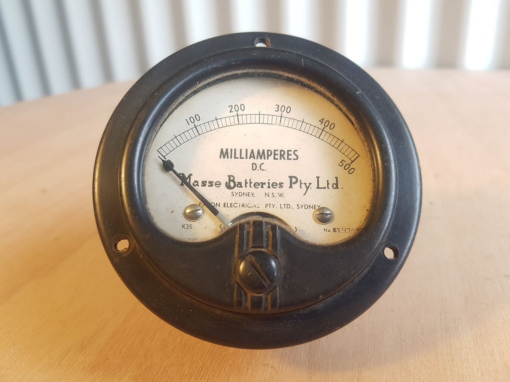 "Milliamp Gauge ""Masse Batteries"""