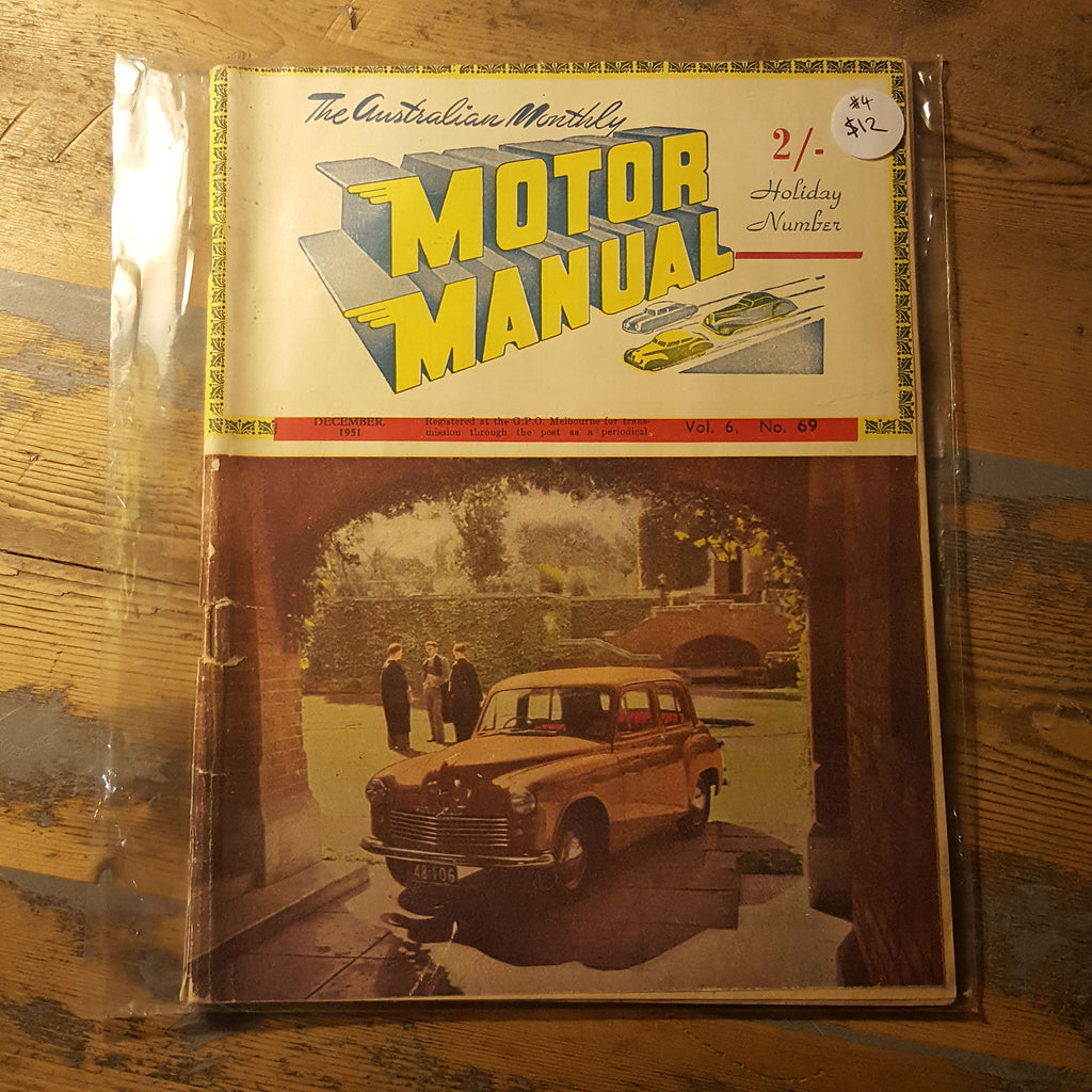 Motor Manual Magazine December 1951 Vol. 6 No. 69