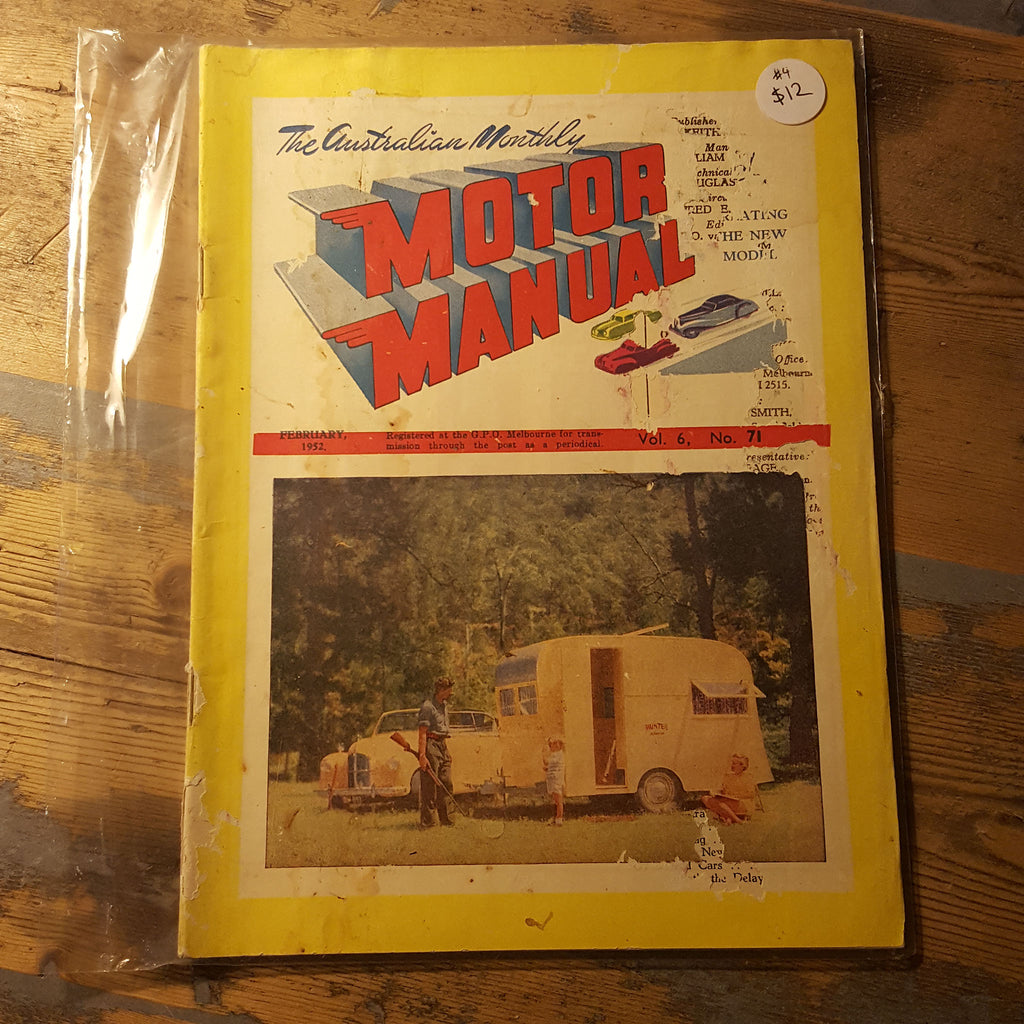 Motor Manual Magazine February 1952 Vol. 6 No. 71
