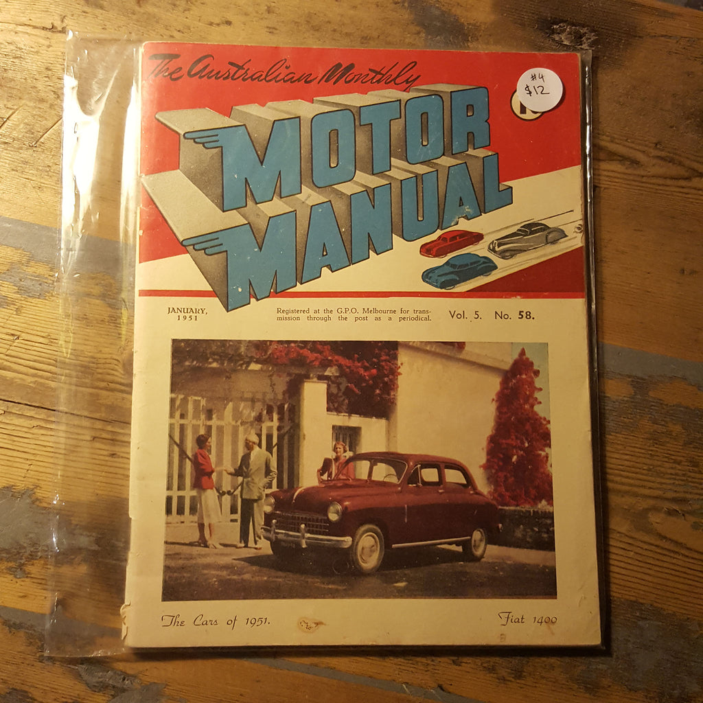 Motor Manual Magazine January 1951 Vol. 5 No. 58