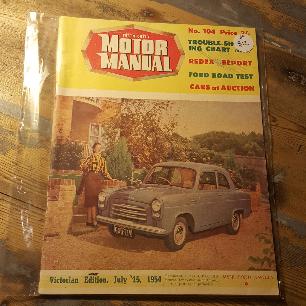 Motor Manual Magazine July 15 1954 No. 104