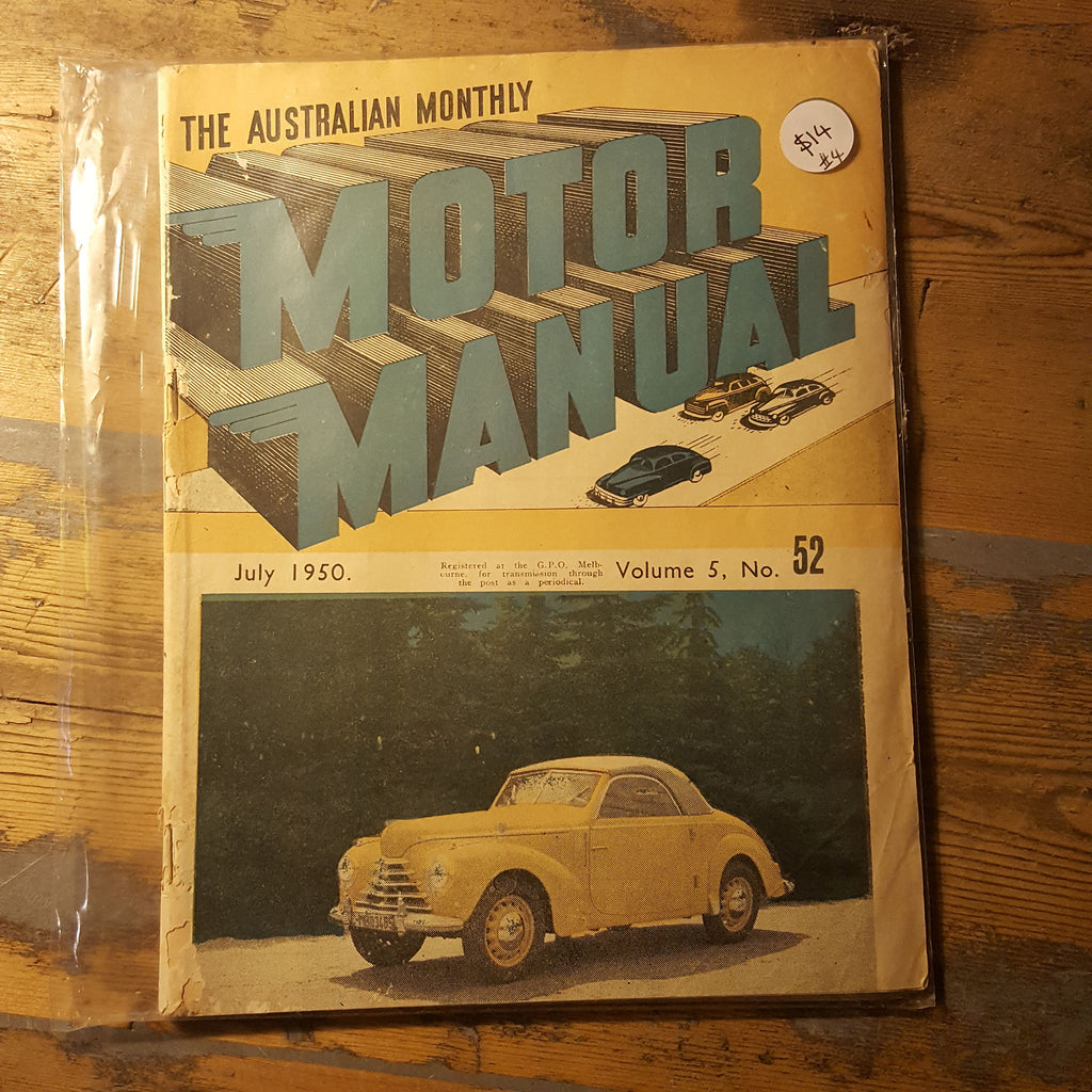 Motor Manual Magazine July 1950 Vol. 5 No. 52