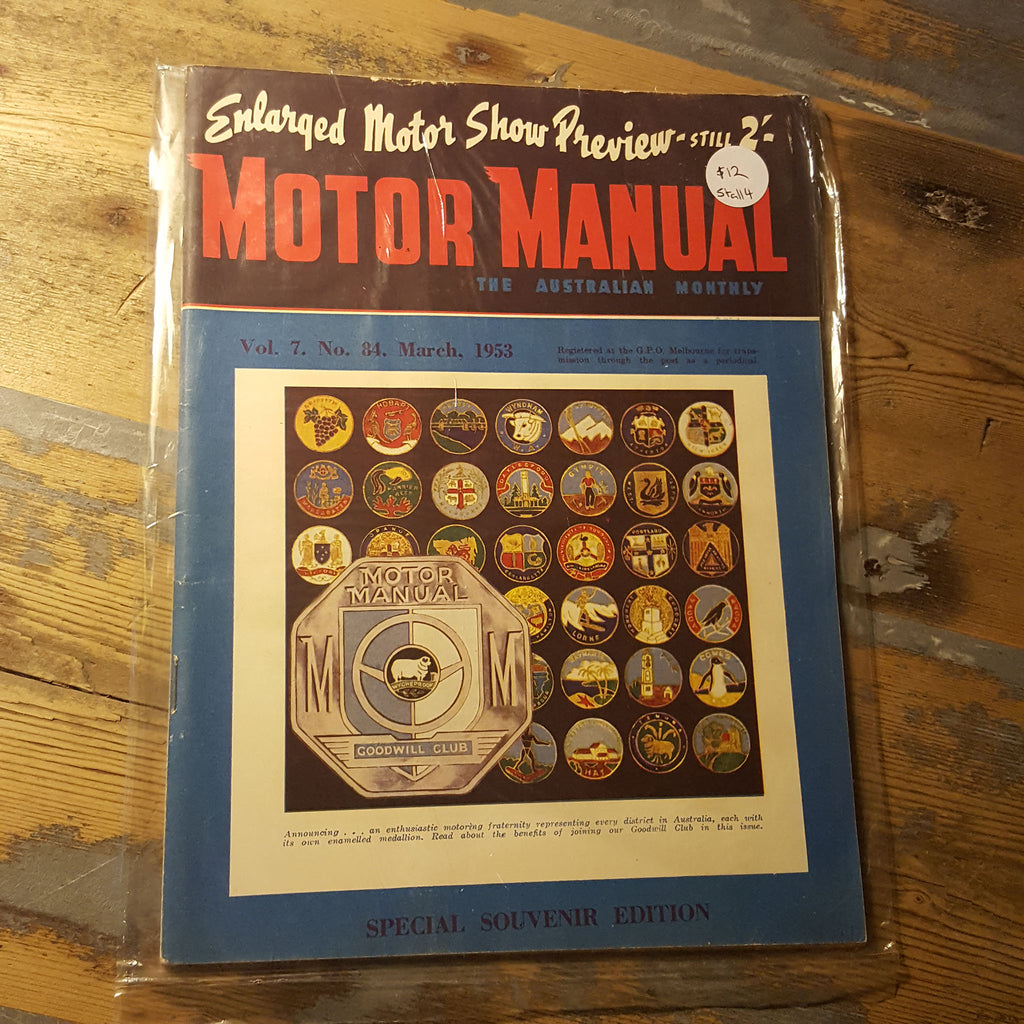Motor Manual Magazine March 1953 Vol. 7 No. 84