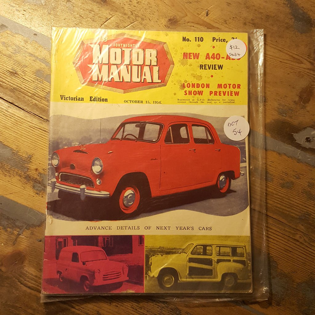 Motor Manual Magazine October 15 1954 No. 110