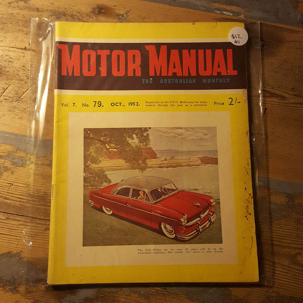 Motor Manual Magazine October 1952 Vol. 8 No. 79