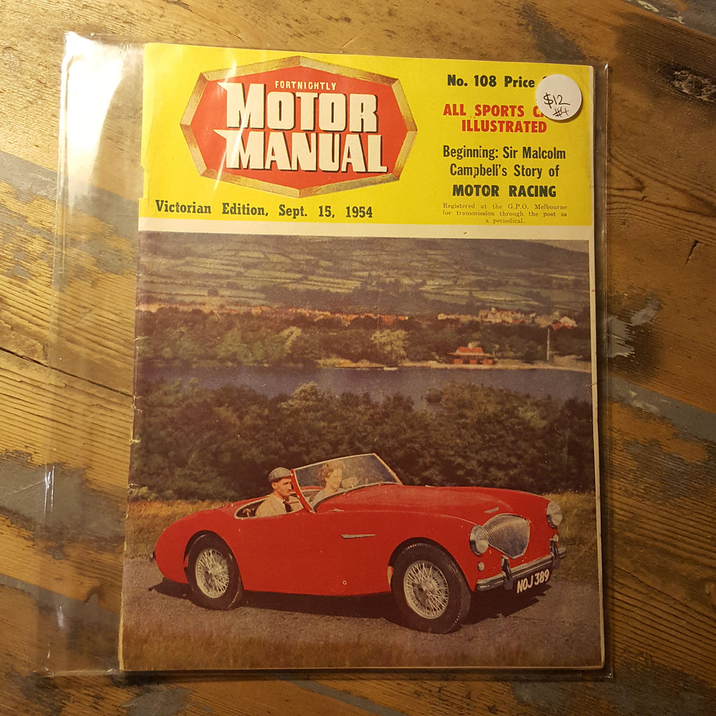 Motor Manual Magazine September 15 1954 No. 108