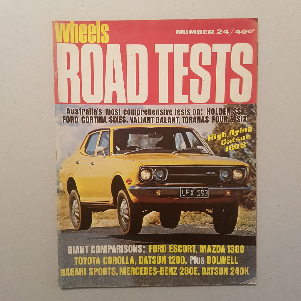 Wheels Magazine 'Road Tests' No.24