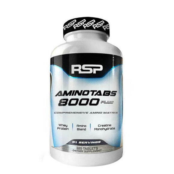 RSP Nutrition Amino Tabs 8000 Plus (81 Serve) 325 Capsules - FitNation Supplements