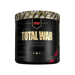 RedCon1 Total War is a performance enhancing pre-workout supplement that increases your energy and mental alertness levels