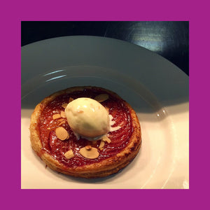 Plum Tarte au Fine with Vanilla Ice cream by Chef Chris Phypers