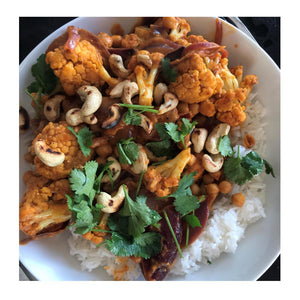 Spicy Roasted Cauliflower Masala by Val Riziotis
