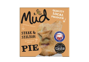 Mud - Steak & Stilton Pie (270g) - Osolocal2U