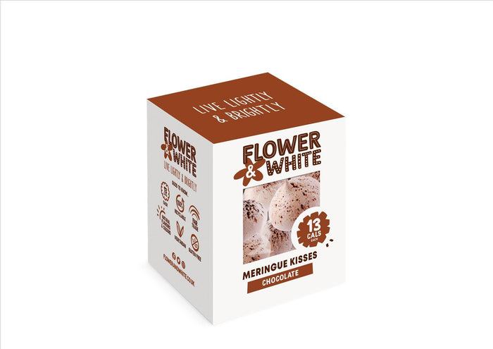 Flower & White - Chocolate Meringue Kisses (100g)
