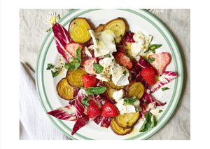 Golden Beetroot, Strawberry and Goats Cheese Salad