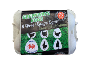 Free Range British Eggs (Pack of 6)