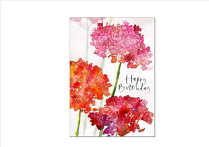 CARD - PINK HYDRANGEAS (HAPPY BIRTHDAY)