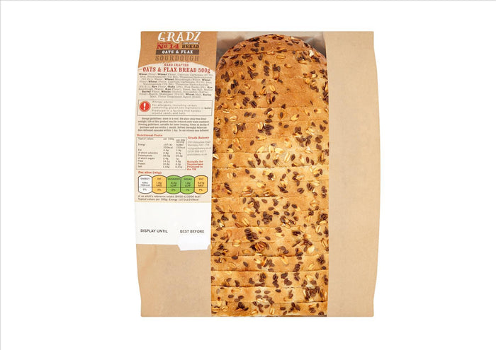 Gradz No.14 - Oats & Flax Sourdough (500g)  - **Order before 4pm for next day delivery**