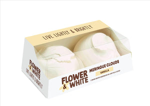 Flower & White - Vanilla Meringue Clouds (2x70g)