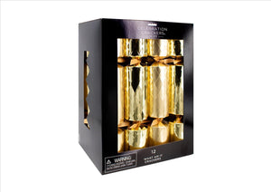 Celebration Crackers - Gold Diamond Mix (Pack of 12)