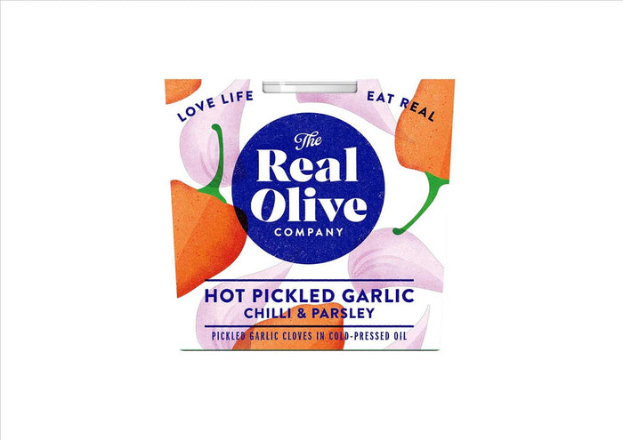 Hot Pickled Garlic with Chilli & Herbs (210g)