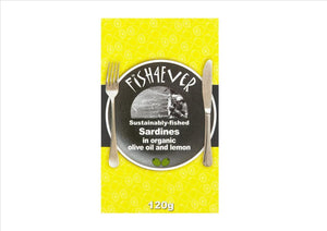 Fish4Ever - Sardines in organic olive oil and lemon (120g)