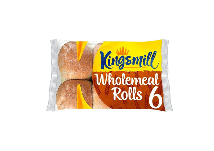 Kingsmill Wholemeal Rolls (Pack of 6)