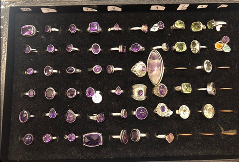 Sky's The Limit Boutique - Stolen RingTray_Amethyst