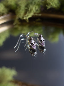 Sterling Silver Earrings Skull