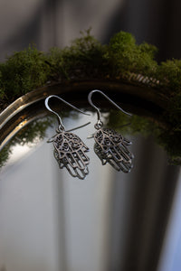 Sterling Silver Earring Hand of Fatima