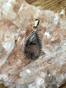 Tourmaline in Quartz Pendant