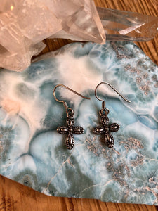 Sterling Silver Earrings Cross