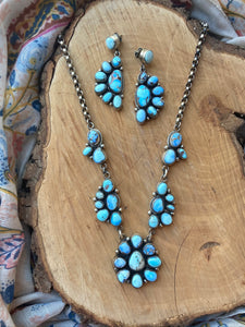 Golden Hill Turquoise Necklace and Earring Set