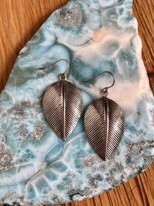 Sterling Silver Earrings Leaf