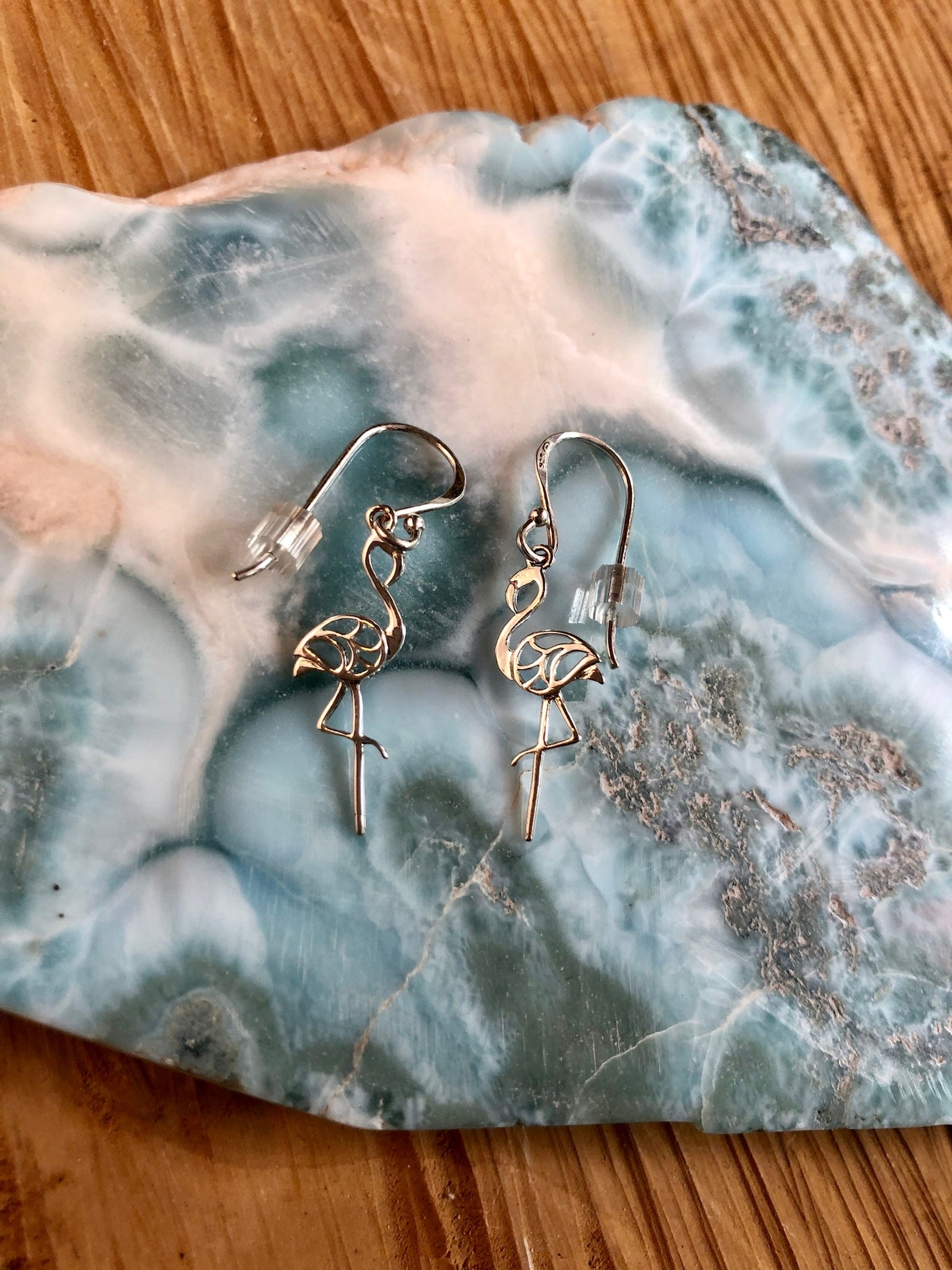 Sterling Silver Earrings Flamingos