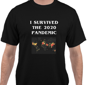 Pandemic Survivor Black Short Sleeve T-shirt - Historic Tees