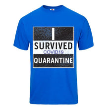 Load image into Gallery viewer, Quarantine Blue Short Sleeve T-shirt - Historic Tees