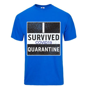 Quarantine Blue Short Sleeve T-shirt - Historic Tees