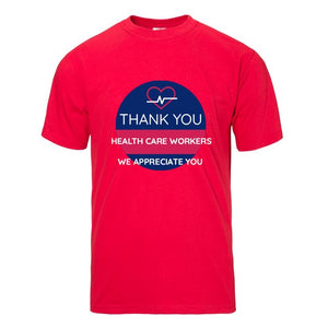 Thank You Health Care Workers Red Short Sleeve T-shirt