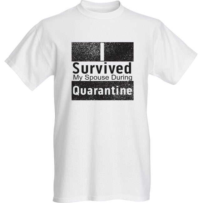 Survived My Spouse White Short Sleeve T-shirt - Historic Tees