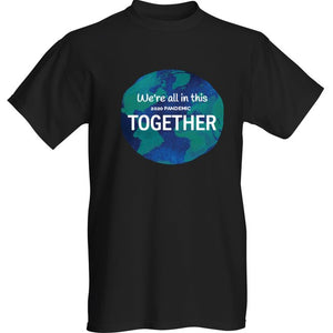 Pandemic Black We're All In This 2020 Pandemic Together Short Sleeve T-shirt - Historic Tees