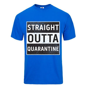 Straight Outta Quarantine Black Short Sleeve T-shirt - Historic Tees