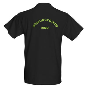 Beating Covid19 Black/green Sit Down Short Sleeve T-shirt - Historic Tees