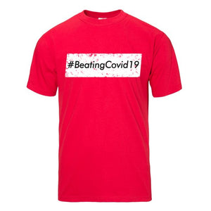 Hashtag Beating Covid19 Red Short Sleeve T-shirt - Historic Tees